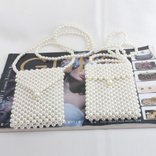 2019 Fashion Evening Pearl Beaded Clutch Bags Lady Handmade Vintage Small Shoulder Crossbody Phone Purses Bag Party Wedding цены