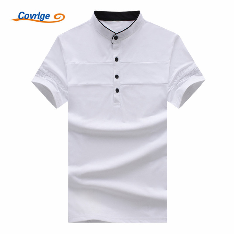 Covrlge New 2018 Men Business   Polo   Shirt Brand Mens Solid Color Fashion Men's Casual Short Sleeve   Polos   Hombre Jerseys MTP057