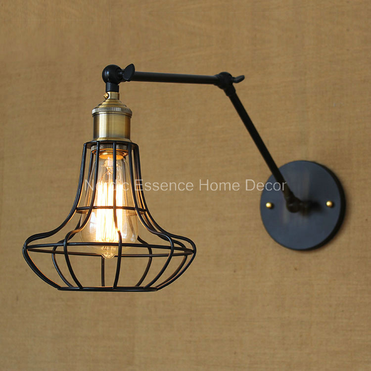 Nordic American country style retro industry long-arm wall light exclusive creative bar hotel cafe restaurant wall lamp sconce