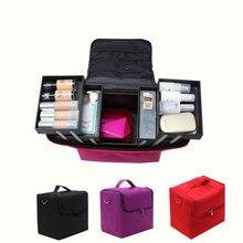 Professional Косметичка Портативный большой емкости Маникюр Красота Многослойные Toolbox коробка для хранения косметический чехол водонепроница