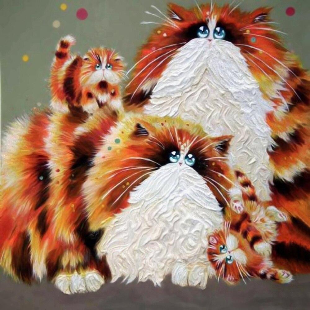 5d diy diamond painting full drill resin animales cats rhinestones embroidery diamond painting animal mosaic pattern