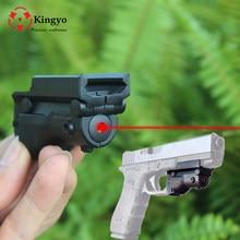 Tactical polowanie czerwona kropka celownik laserowy Laser 5mw dla pistolet/pistolet karabin Glock pistolet Glock 19 23 22 17 21 37 31 20 34 35 37 38