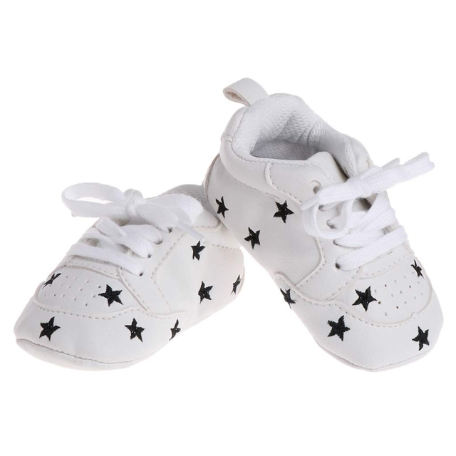 a49b75a5d16f Baby Soft Sole Shoes Faux Leather Star Pattern Infant Baby Prewalker Crib  Shoes 0-18 Month