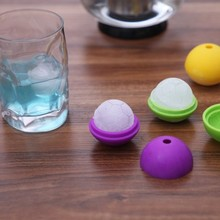 BF015 Creative Candy color food-grade silicone football form ice hockey mold icer maker dia 4.5cm Free shipping
