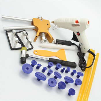 Car PDR Tools For Car Kit Instruments Car Body Repair Kit Dent Puller Removal Dent Lifter Tool Set Suction Cup with Glue gun 12V auto body tools dent puller kit spotter stud welder spot welding gun washer chuck holder car bodywork dent repair automotive