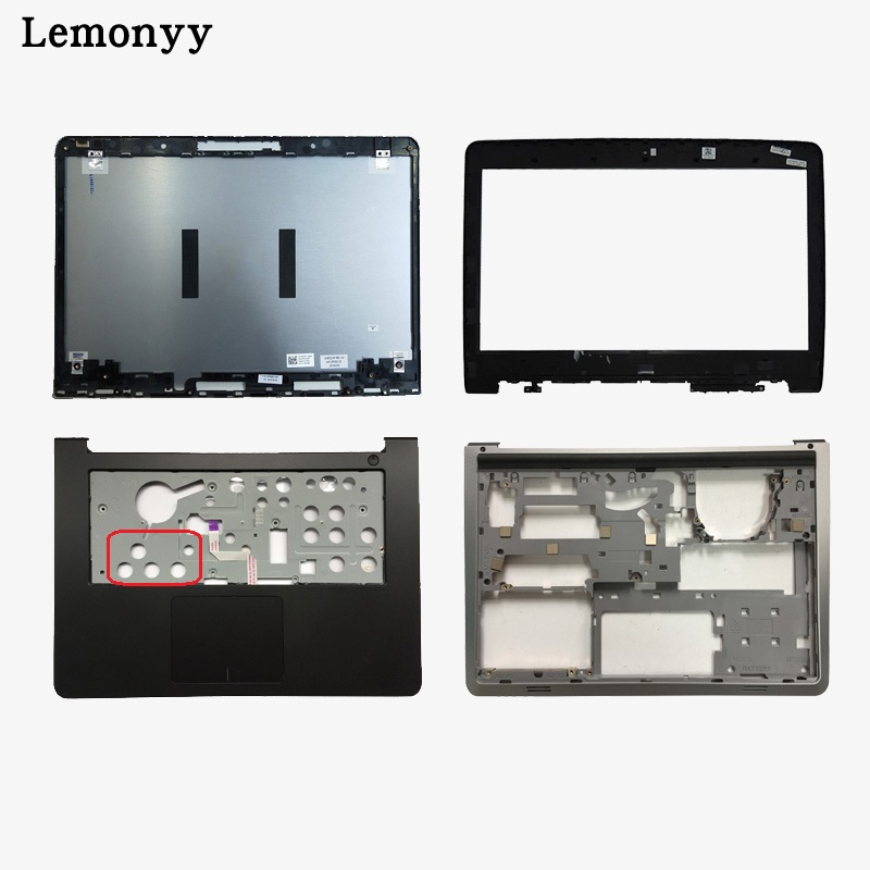 NEW shell For Dell Inspiron 14 5000 5447 5445 5448 LCD Top Cover/LCD front bezel/Palmrest Upper Touchpad/bottom case cover