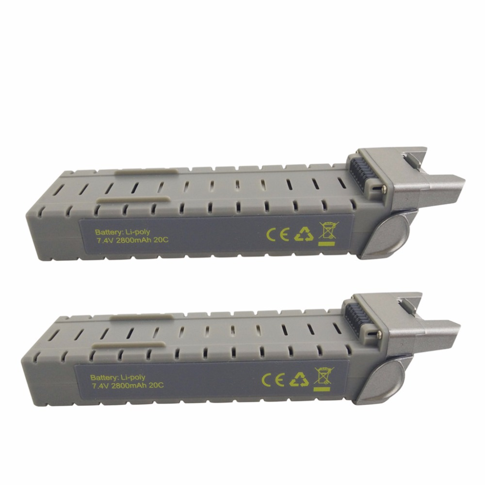2PCS <font><b>7.4V</b></font> <font><b>2800mah</b></font> <font><b>battery</b></font> for MJX Bugs 3 PRO B3PRO F17 F100 D85 brushless four-axis aircraft accessories lithium <font><b>battery</b></font> image