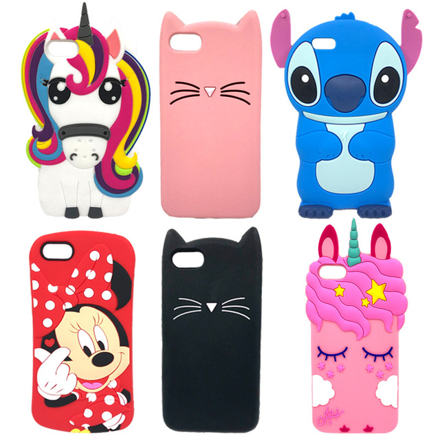 Honor 7A Case 5.45 inch Cute 3D Cartoon Silicone Soft Phone Case For Huawei Honor 7A 7 A DUA L22 Russian Version Back Cover Bag