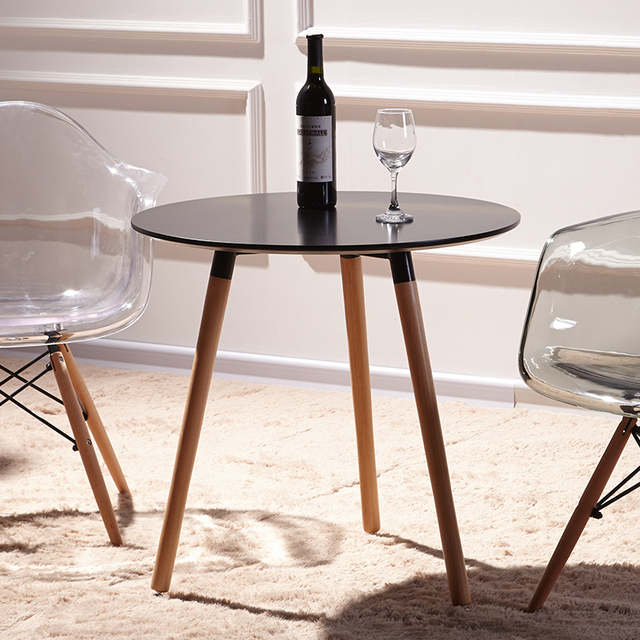 Ikea Eamois Round Table To Discuss A Combination Cafe Tables And Chairs Modern Minimalist Small Apartment Wood Dining
