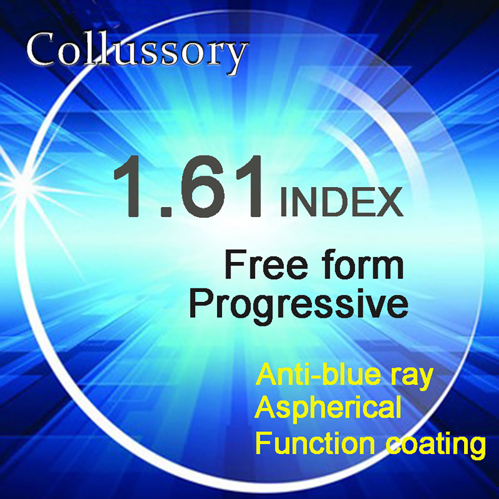 1 61 Index Aspherical Optical Free Form Progressive Anti blue Ray Prescription Reading Lenses Multifocal Bifocal