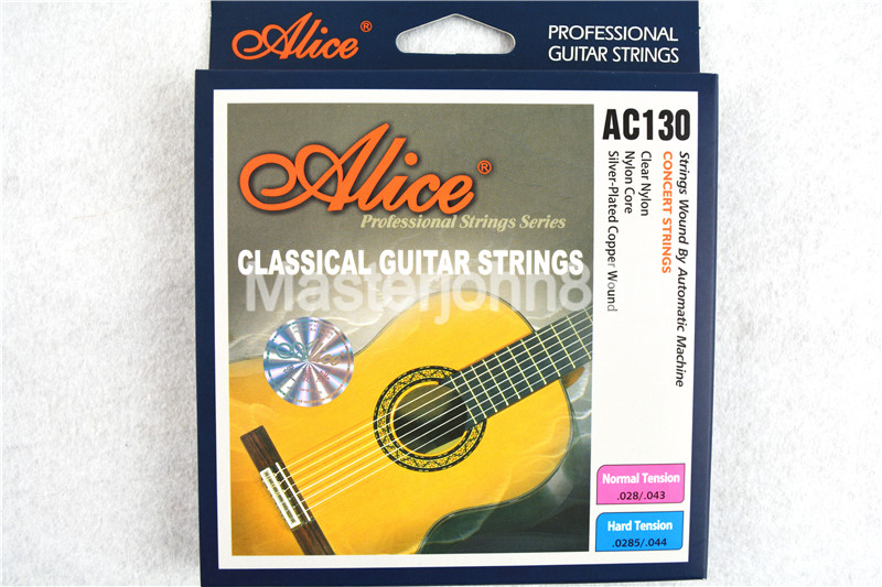 Alice AC130-H Strings Guitar Classical Clear Nylon & Silver-Plated Copper Lound 1st-6th Strings Wholesales Free Shippng