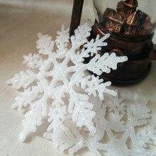 7.5cm 10cm 12.5cm 15cm 18cm 30cm Plastic Snowflakes Christmas Tree Decoration Xmas Ornament
