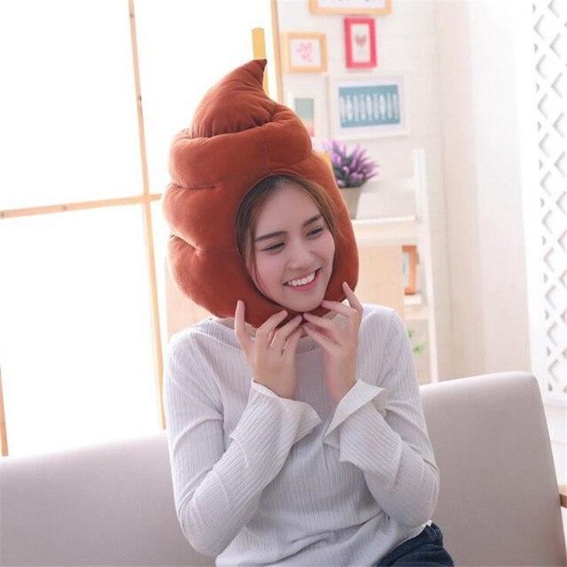 Плюшевая шапка какашечка 1