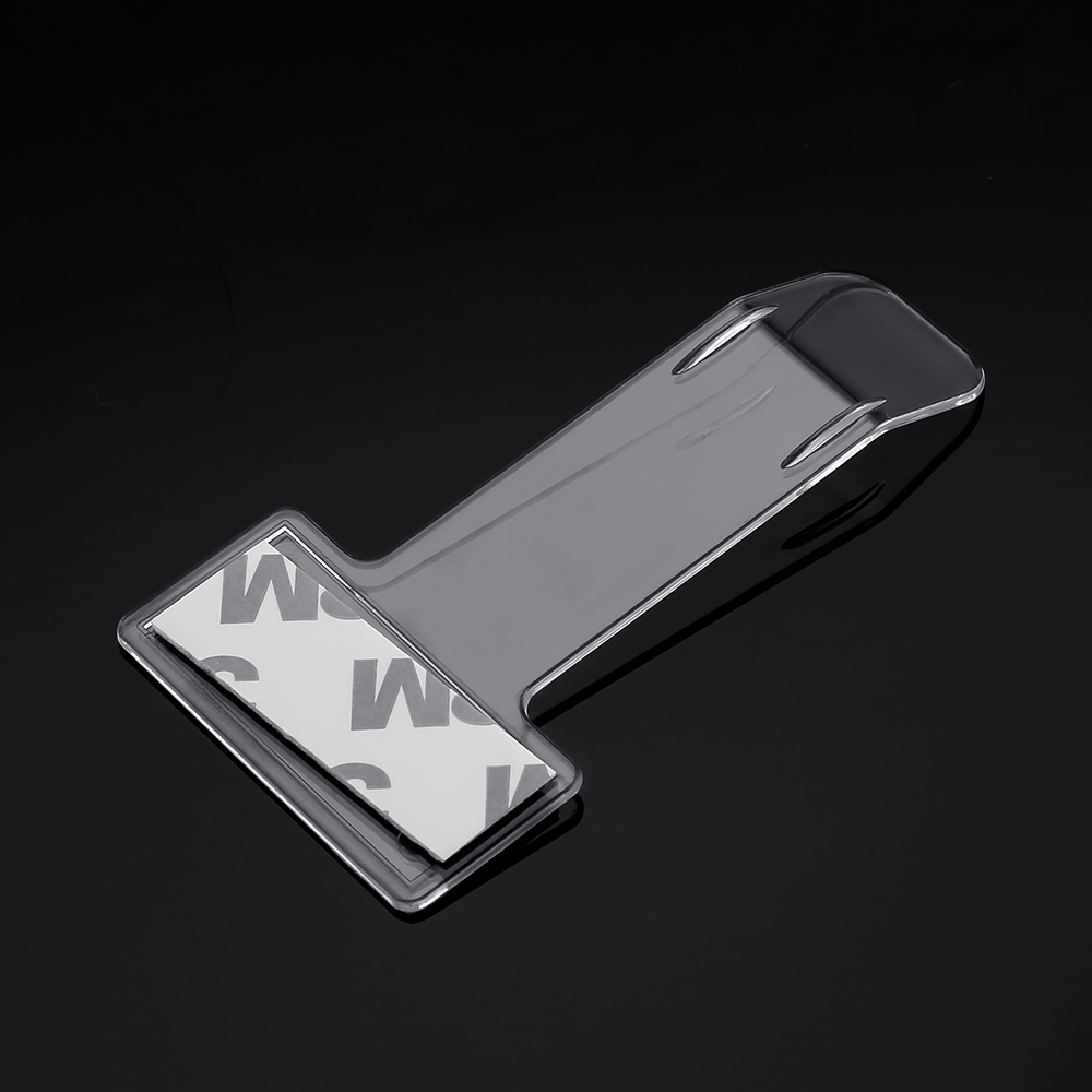 Image 3 - 1 Piece Car Ticket Folder Mini T shape Transparent Environmentally Ticket Folder Car Holder Mount Car Styling for Office Home-in Auto Fastener & Clip from Automobiles & Motorcycles