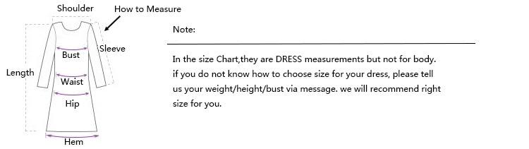 dress size measure