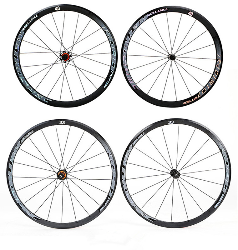 RS2.0 aluminum alloy rim sealed bearing road bike 700C wheelset anti-cursor colorful 40mm bicycle wheel set wheelsRS2.0 aluminum alloy rim sealed bearing road bike 700C wheelset anti-cursor colorful 40mm bicycle wheel set wheels