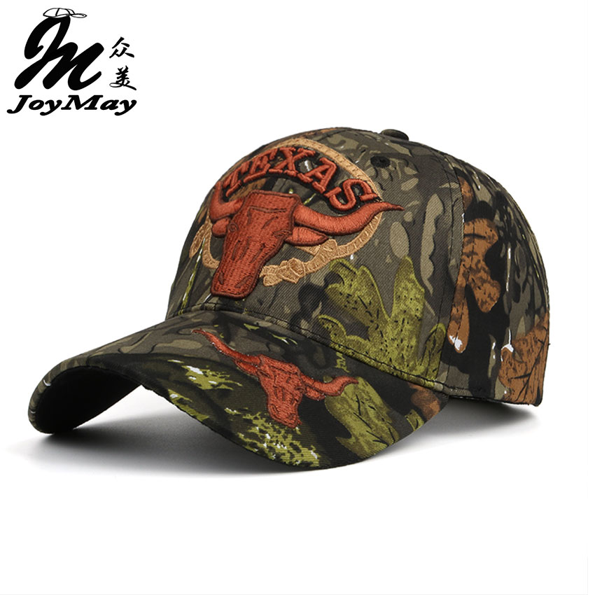 Joymay  New TEXAS Embroidery Unisex Couple Camouflage Baseball cap Adjustable  Fashion Casual Snapback HAT B406