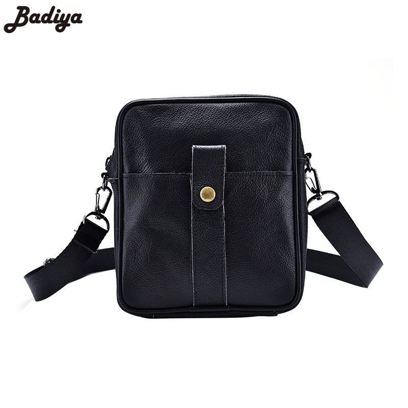 New Fashion Cow Leather Black Messenger Bags For Men Hasp Zipper Design Men's Business Genuine Leather Single Shoulder Bag new style messenger bag men leather top grade all match hasp fashion retro cow leather men bag solid color small shoulder bags