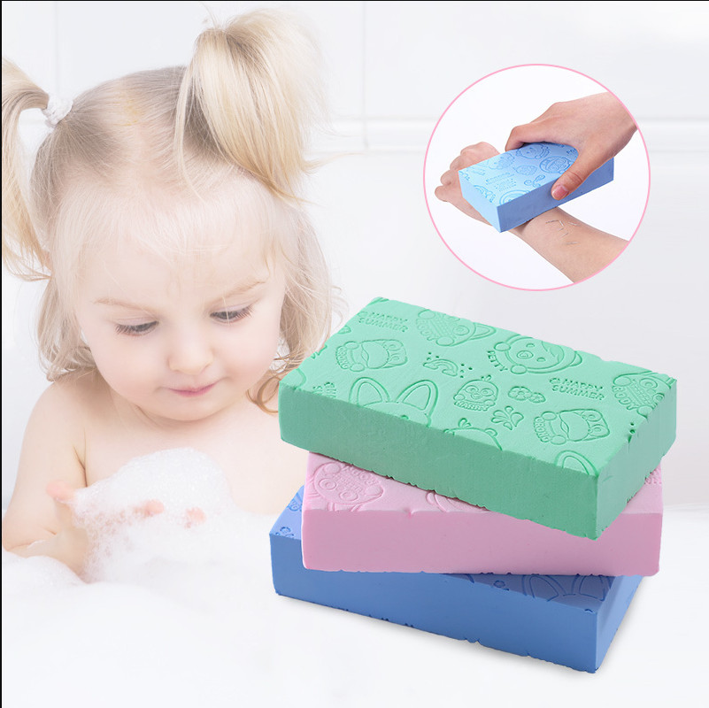 Cute newborn baby bathing bath sponge baby infant child bathing scrub cotton body towel accessories image