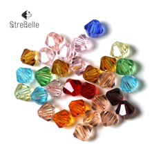 Wholesale 6mm 200pcs/Lot 6 MM Bicone Beads Glass Crystal 18Colors In Stock 5301 Cystal