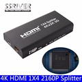 SSRIVER 4K HDMI 1x4 2160P Splitter Full HD 1080P Amplifier HDMI Switch Switcher 1 in 2/4 Out  Converter adapter For HDTV