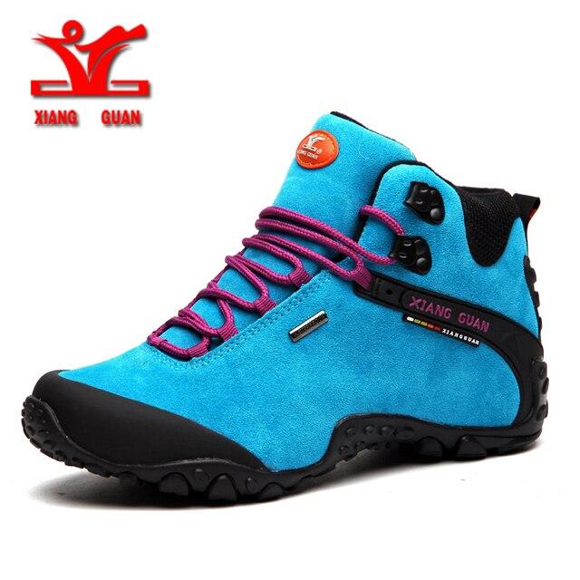 XIANGGUAN 2018 Women Hiking Shoes Outdoor Hunting Boots Waterproof Mountaine Shoes For Women Climbing shoes Free Shipping