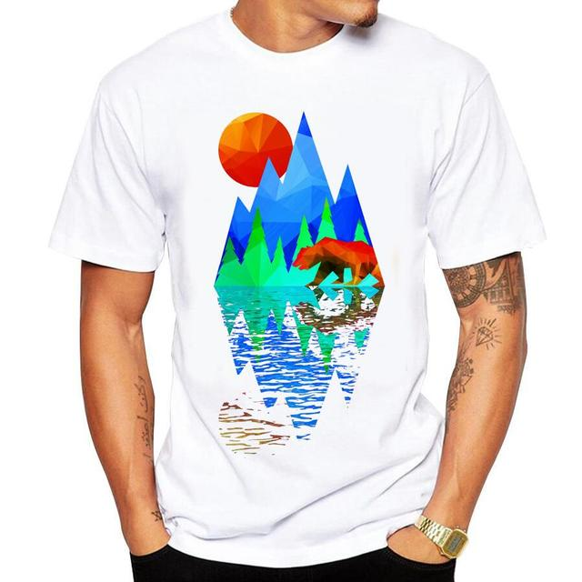 Casual men's t-shirt new short-sleeved Summer Retro Style Synthwave 2