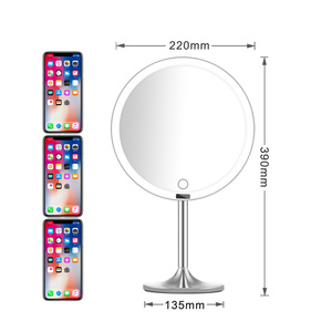 Image 3 - LED Touch Screen Light Makeup Mirror with 5X Magnifying Smart Sensor Desktop Vanity Mirror 8.5 inch HD Mirrors For Beauty Makeup