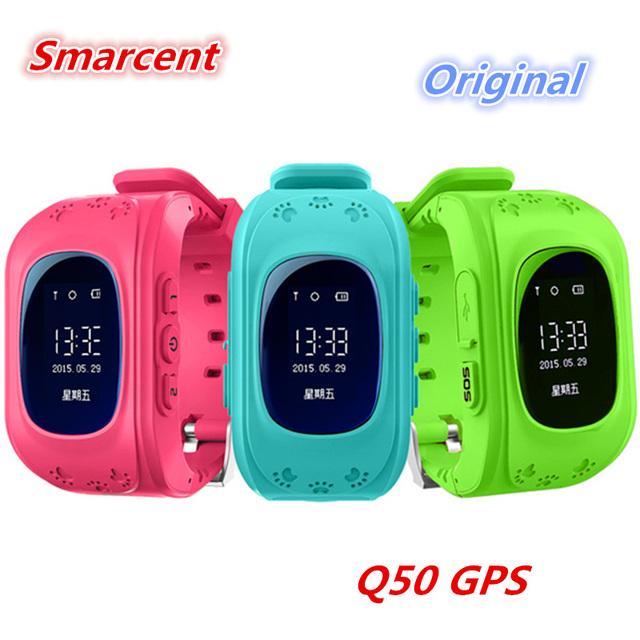 Q50 Smarcent Crianças Inteligentes Assistir OLED GPS Criança Anti Perdido dispositivo de monitoramento de posicionamento rastreador sos telefone para ios iphone 6 s Android