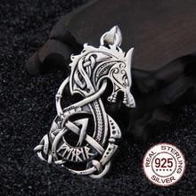 Gerçek 925 Ayar Gümüş Viking Ejderha kolye kolye gerçekten deri ve demir kutusu hediye olarak