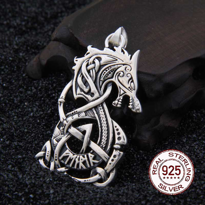 Real 925 Sterling Silver Viking Dragon pendant necklace with really leather and iron box as gift gifted set 26pcs iron box gift tools in fancy and portable silver tone box