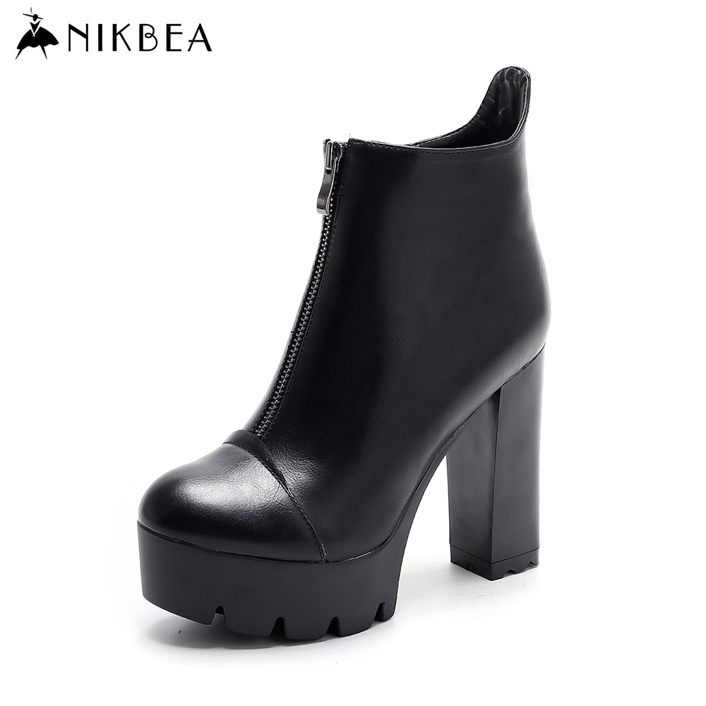 nikbea fashion platform new rock boots handmade ankle