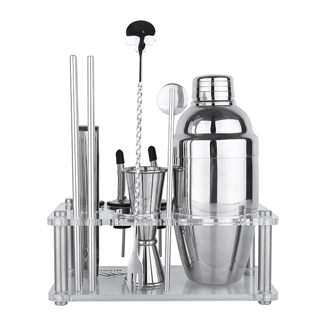 Set of 12 Stainless Steel Bartending Tools