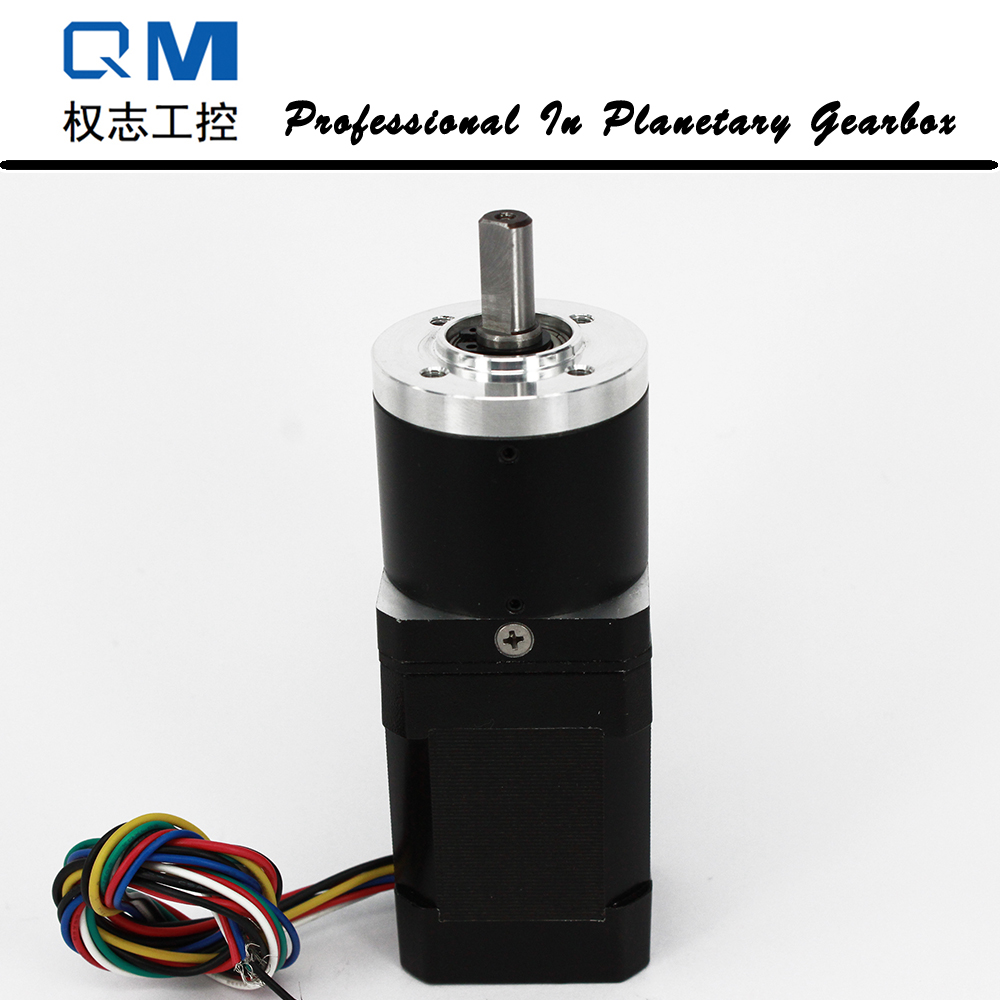 Nema 17 60W gear dc motor planetary reduction gearbox ratio 50:1 with brushless dc motor 24V 24v 52 5w 5 8 n m 70rpm 42mm brushless dc motor square brushless dc motor with planetary gearbox reduction ratio 56 5