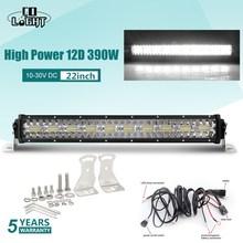 ĐỒNG SÁNG 3 Hàng 390 W Offroad LED Bar 12D 22 inch LED Làm Đèn Thanh Lũ Lụt Tại Chỗ chùm 4x4 Đèn LED Thanh cho ATV XE SUV Xe Tải 12 V 24 V