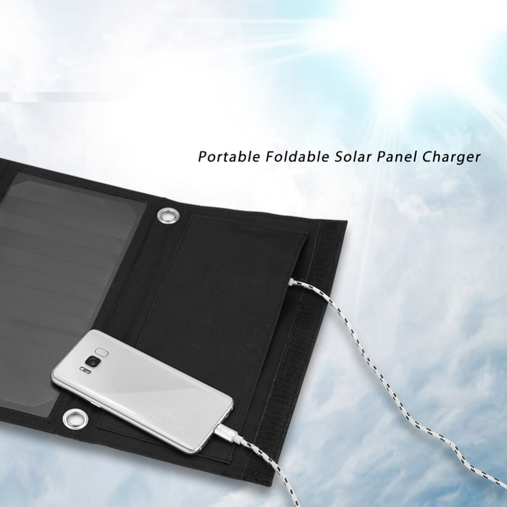 5V Portable Solar Charger 21W Foldable Solar Panel Charger Phone USB Power Bank for Travelling Camping Mobile solar chargers Hot