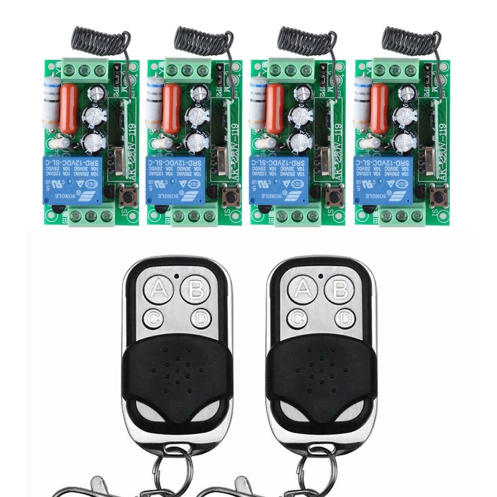 AC 220V 10A Wireless Remote Control Wireless Light Switch