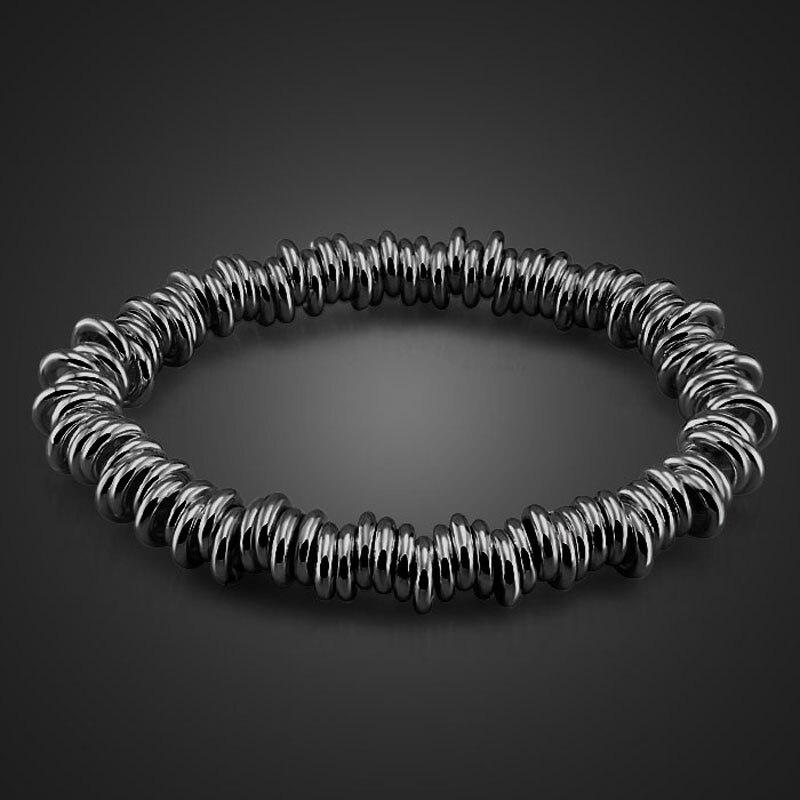 Fashion best British style bracelet.Black elastic women bracelet.Personality of the bracelet.Charming lady's jewelry