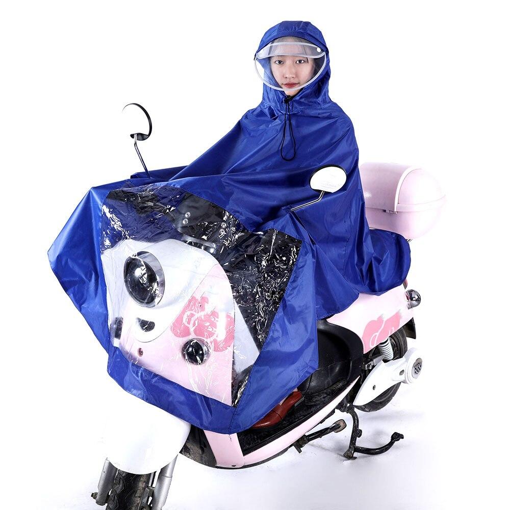 Vehemo Оксфорд унисекс мотоцикл плащ Дождевик-доказательство Универсальный Велоспорт накидка пончо ветрозащитный дождь ветер автомобильные аксессуары - Цвет: blue