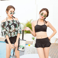 Lena Gaga 3piece Set Bikini Skirt Cover Up Beach Wear Bikini Shorts Swimsuit Women Swimwear Female