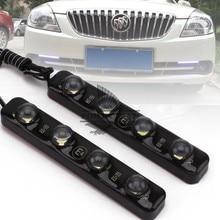 1 pair LED Universale Dell'automobile di Alto Potere 4LED Bianco Luce Corrente di giorno DRL Nebbia Avverte la Lampada Decorativa di Alto Potere 100% impermeabile