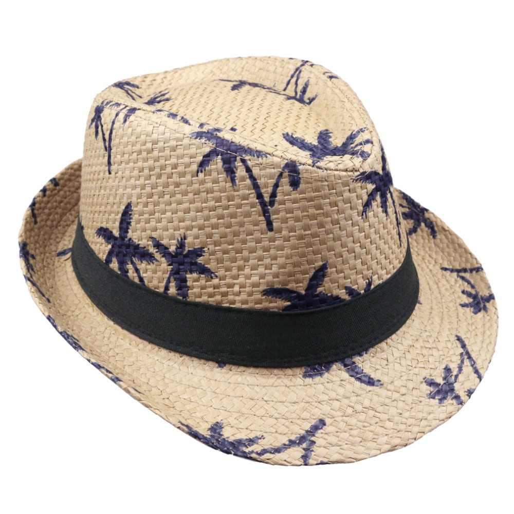 2018 hot sale summer straw sun hat kids beach sun hat trilby panama hat handwork for