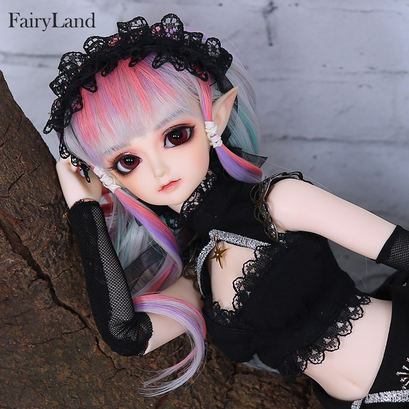 Gratis frakt Minifee Eliya BJD Dukke 1/4 Elf Girl Fleksibel Harpiks Figur Fullsett Alternativ Toy For Girl Fantastisk Gave Fairyland