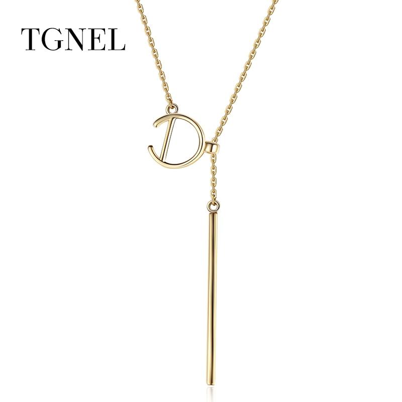 80fdc89d5 TGNEL S925 Sterling Silver Náhrdelník Přívěsky zlaté barvy Jemné šperky  Choker Krásné šperky pro ženy 925 stříbro strana
