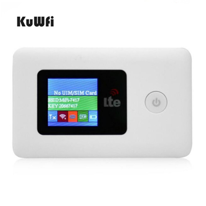 все цены на KuWfi 4G Wifi Router Portable Unlocked 3G/4G LTE WiFi Router 2100mAh Battery Pocket Mobile Wireless Hotspot with SIM Card Slot