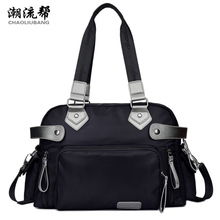 Brand high quality large capacity handbag Strong and waterproof nylon travel bag Contracted joker preppy style shoulder bag