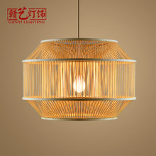 bamboo chandeliers, Zen, Japanese tatami, bedroom lamps, restaurants, teahouses, bamboo plaits, lamps and lanterns.(China)