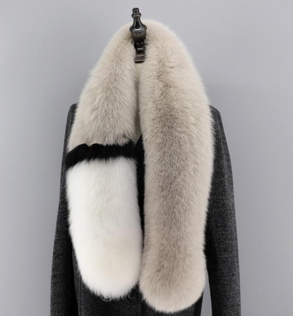 2016 Women Fashion Elegant Genuine Real Fox Fur Scarf Scarve Evening Party Cape Wraps Free Shipping Nice Quality