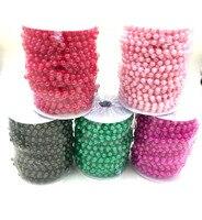 Un Rotolo di 20 Metri Beads Formato 8 MM Perle Artificiali Catena del Branello Corda di Plastica Ghirlanda Festa di Nozze Di Natale Casa Volante decorazione