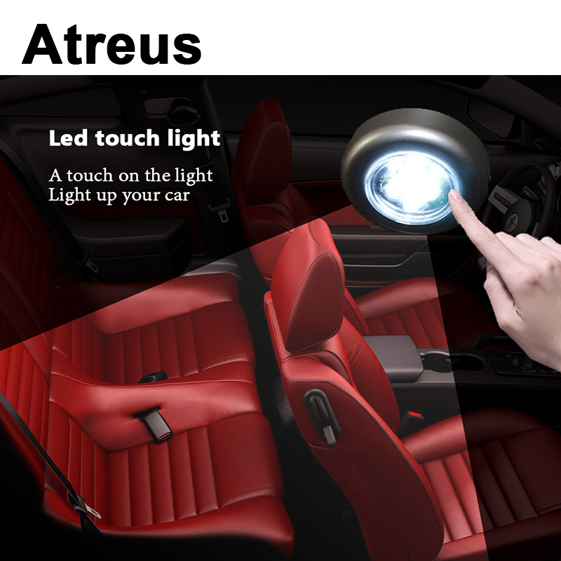 Atreus 1X Car Styling Interior LED Grille Reading Lamp Decoration Sticker for Volkswagen VW Polo Golf 4 Touran Opel Astra H J G